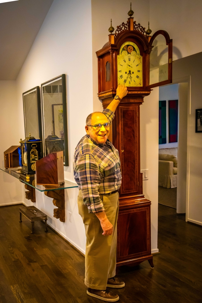 Steve with his 2000 national winning Tall Case Clock.